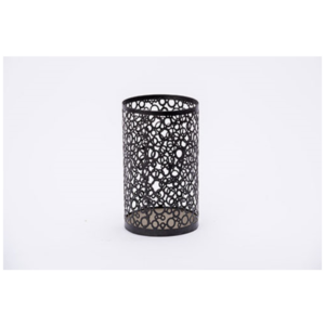 Black Patterned Candle Holder