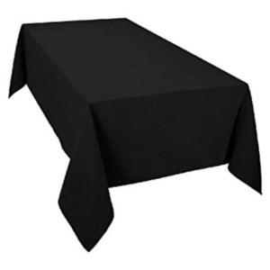 Black Rectangular Tablecloth