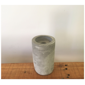 Cement Candle Holder Tall