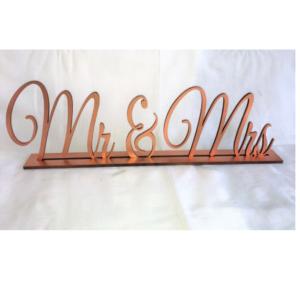 Copper Mr & Mrs Sign