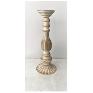Cream Candlestick Large