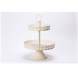 Cream Lace Cupcake Stand