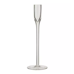 Glass Taper Candlestick Short