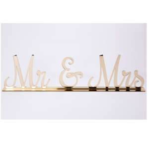 Gold Mr & Mrs Sign