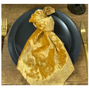 Velvet Mustard Napkin