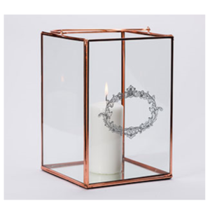 Rose Gold Box Lantern