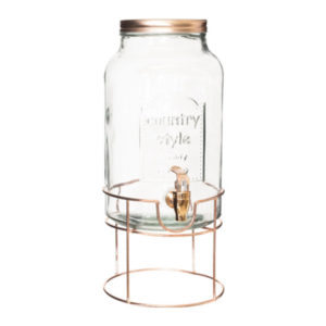 Rose Gold Dispenser Round Stand