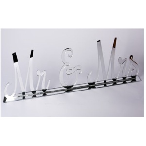 Silver Mr & Mrs Sign