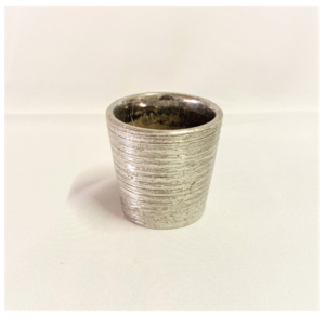 Silver Textured Votive