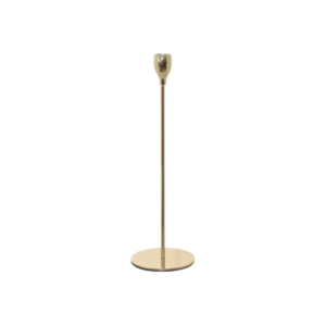 Thin Gold Candlestick 33cm