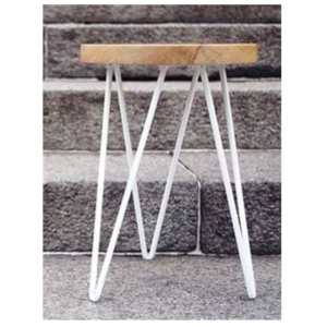 White Hairpin Side Table
