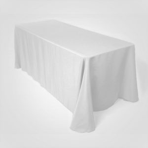 White Rectangular Tablecloth
