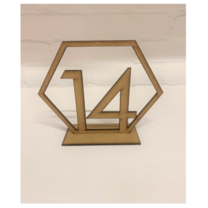 Wooden Hexagon Number