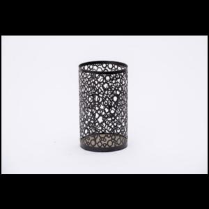 Black Patterned Candle Holder