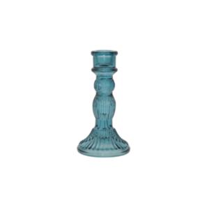 Blue Candlestick 16cm