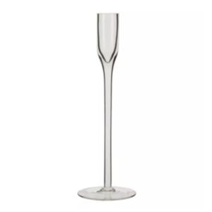 Glass Taper Candlestick Short
