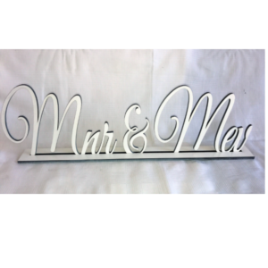 White Mnr & Mev Sign