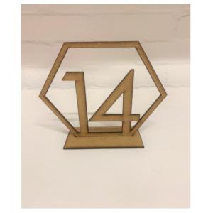Wooden Hexagon Number